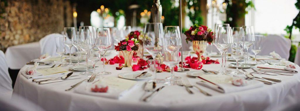 meniul de nunta - aranjament masa